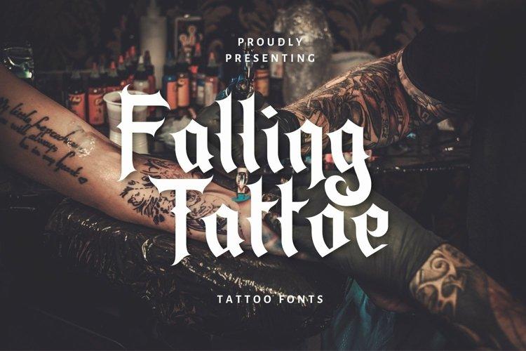 Web Font Falling Tattoe - Tattoo Font example image 1