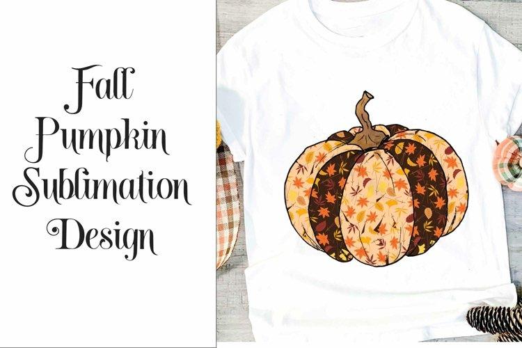 Sublimation Fall Pumpkin Design example image 1