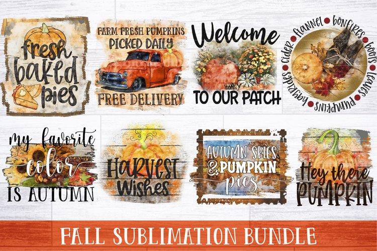 Fall Sublimation Bundle   Fall Quotes PNG Sublimation Bundle