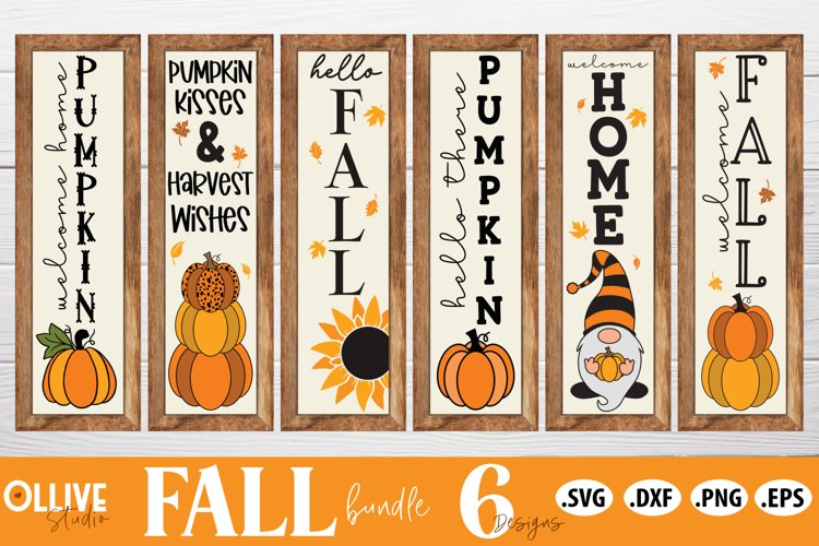 Fall Porch Sign SVG Bundle   Fall SVG example image 1