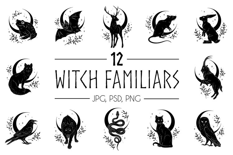 Familiar Spirits - 12 illustrations