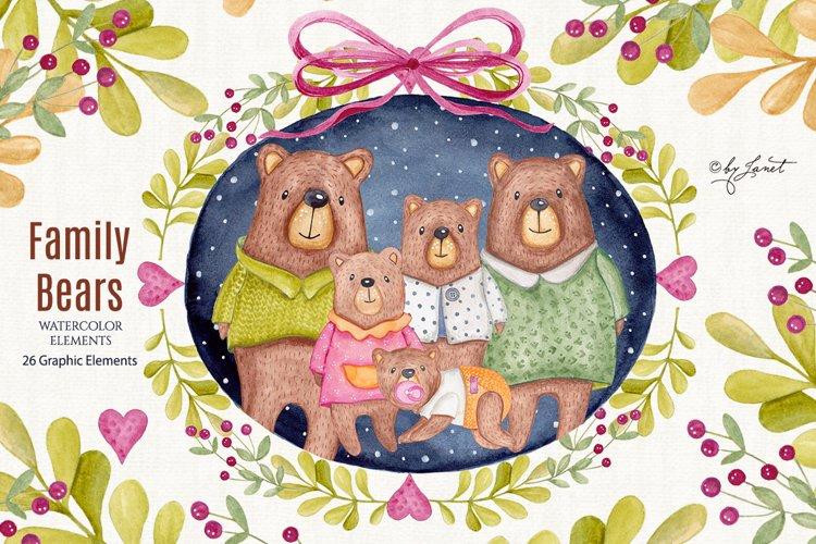 Family Bears illustration