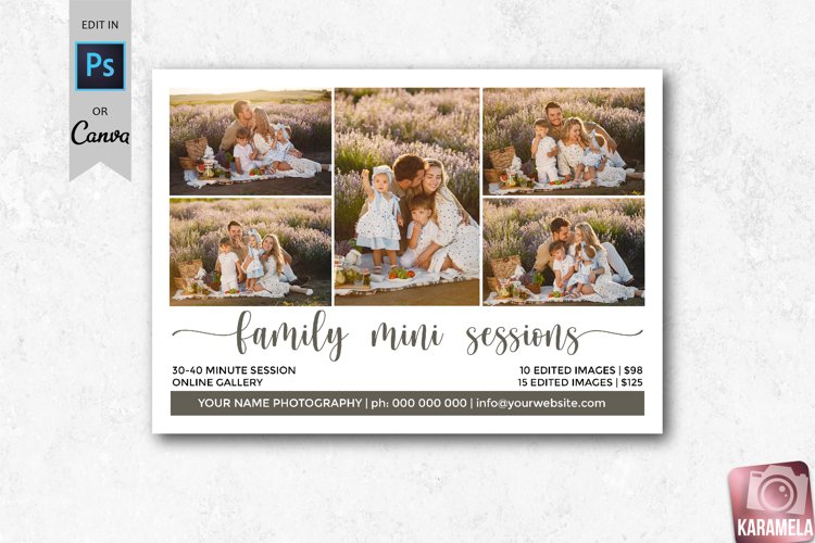 Family Mini Sessions Marketing Template for Photographers