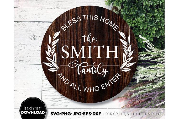 Wreath SVG , Floral svg, Circle SVG, family sign svg