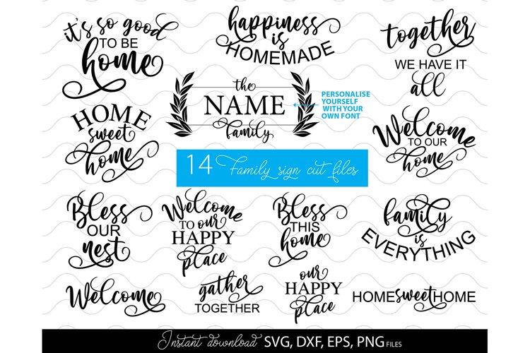 Welcome sign SVG Family sign SVG Family SVG home sign svg