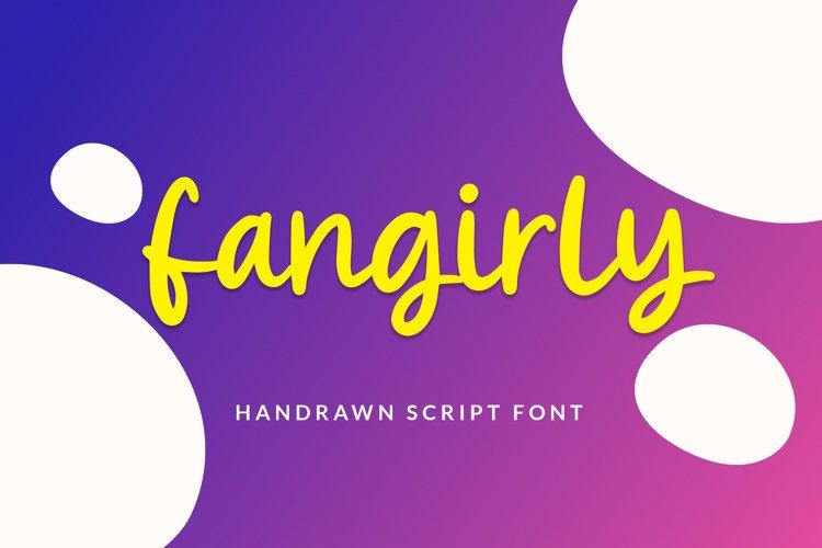 Fangirly - Handrawn Script Font