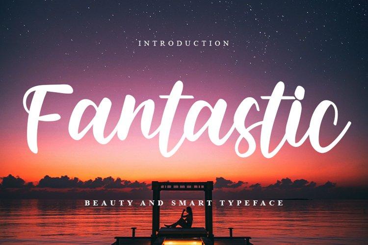 Fantastic - Modern Script Font example image 1