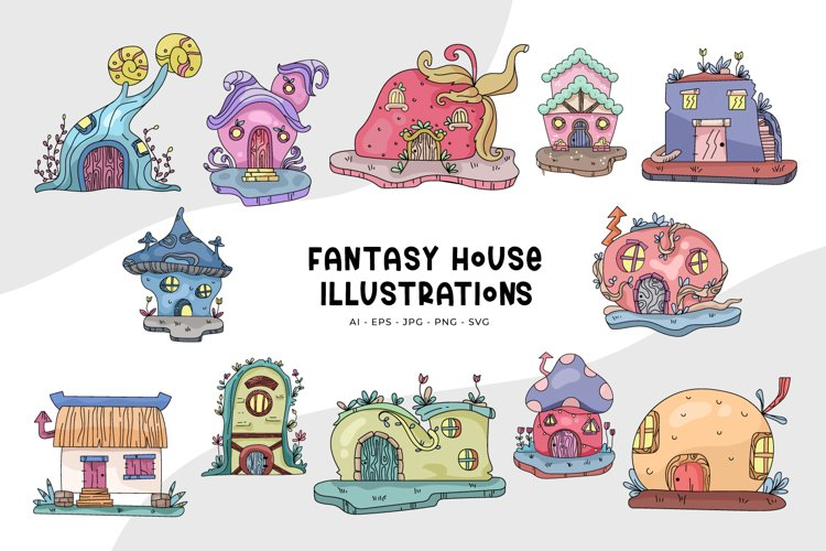 Fantasy House Illustrations