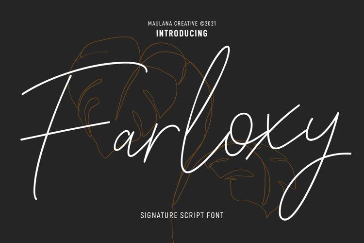 Farloxy Signature Script Font example image 1