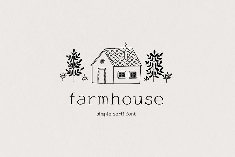 Farmhouse serif font example image 1