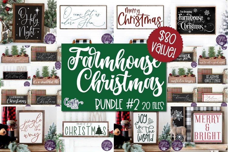 Christmas Svg, Farmhouse Christmas Sign Bundle, Farmhouse #2