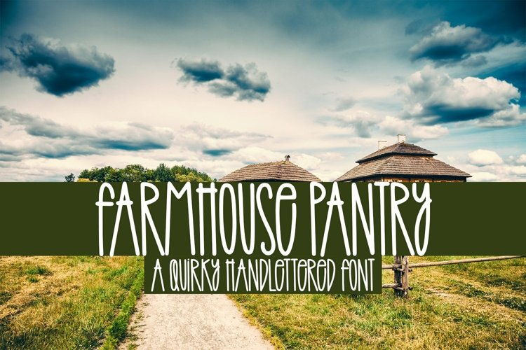 Web Font Farmhouse Pantry - A Quirky Handlettered Font example image 1