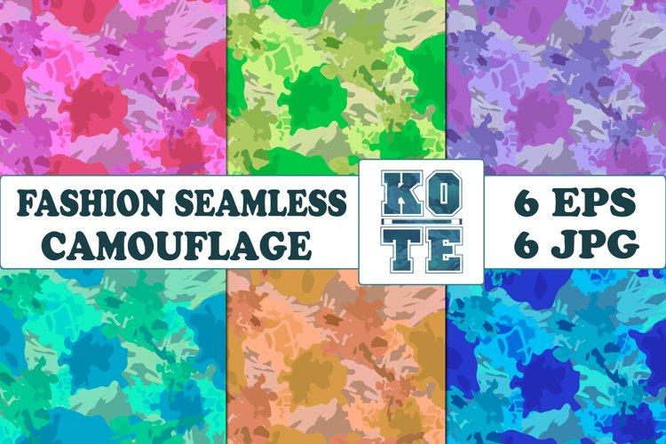 6 Seamless Fashion Camouflage