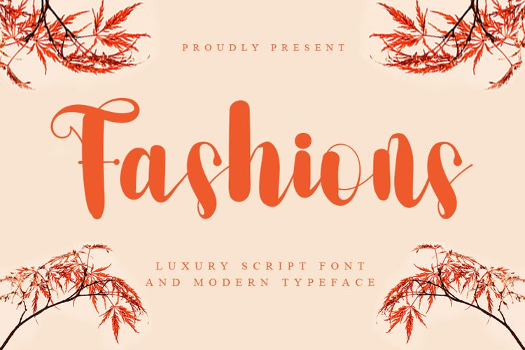 Fashion - A Luxury Scrip Font example image 1