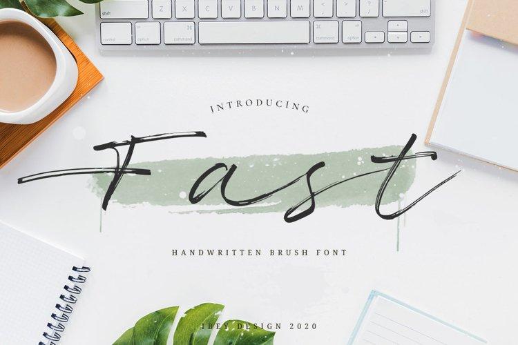 Fast - Brush Stroke Font example image 1