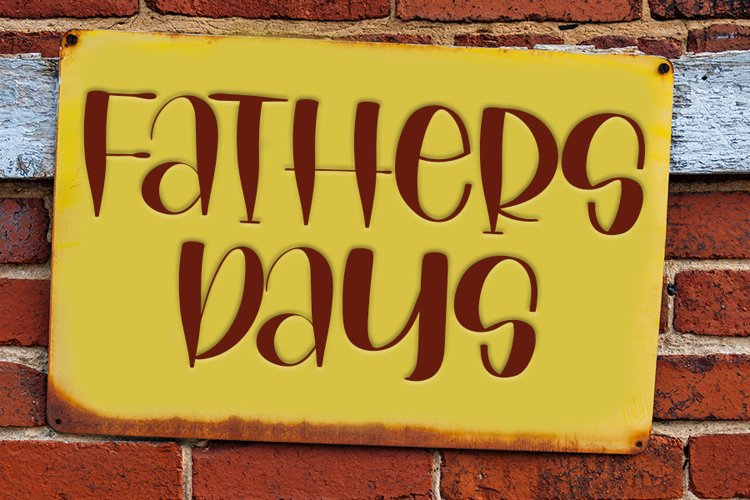 Fathers Days - Love Handwritten Font example image 1