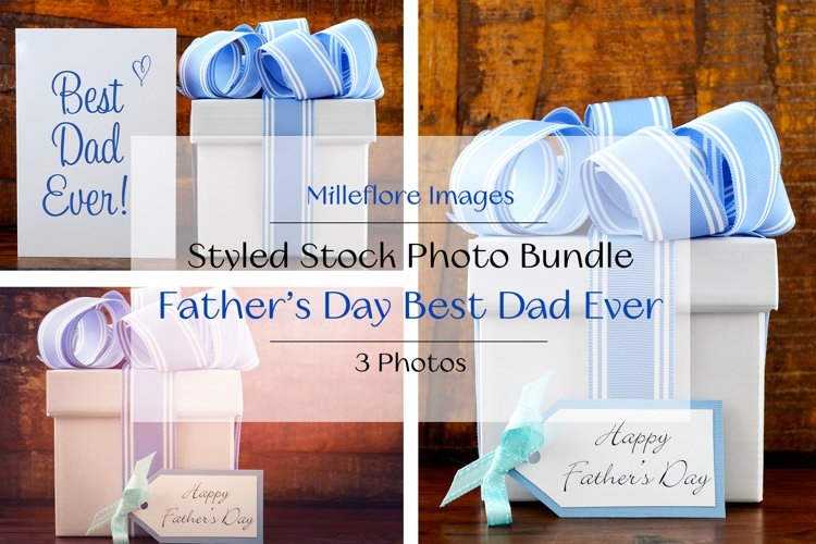 Fathers Day Best Dad Ever Gift. 3 Pack Styled Stock Photos