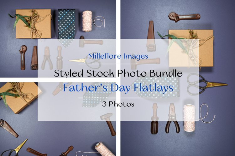 Fathers Day On-trend Flatlays. 3 Pack Styled Stock Photos