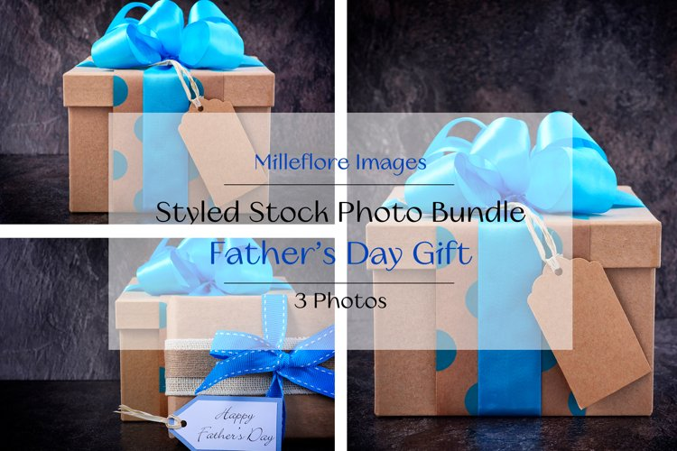 Fathers Day Natural Wrap Gift. 3 Pack Styled Stock Photos