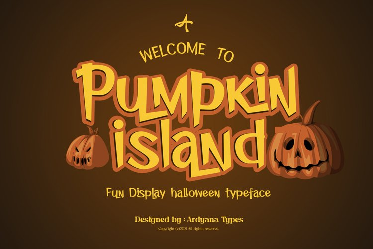 Pumpkin Island - Halloween Typeface example image 1