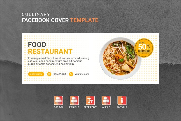 Facebook Cover Vol.29 example image 1