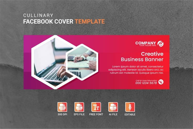 Facebook Cover Vol.34 example image 1