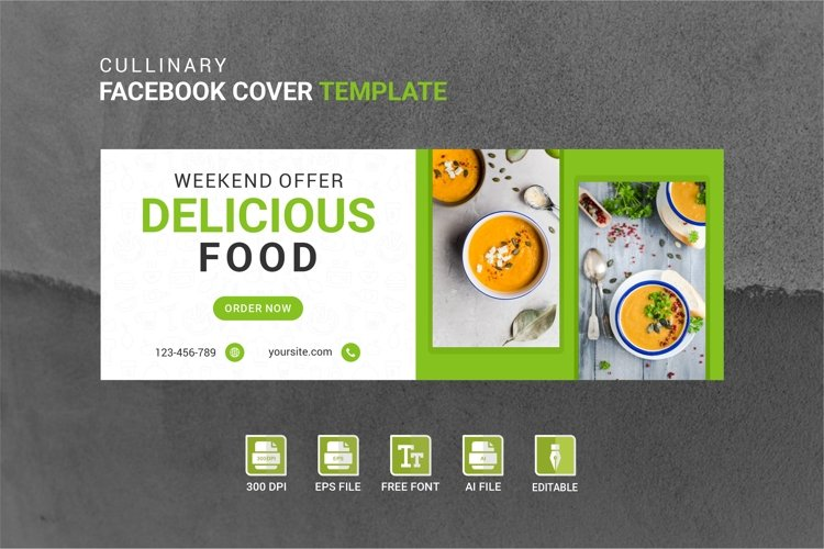 Facebook Cover Vol.36 example image 1