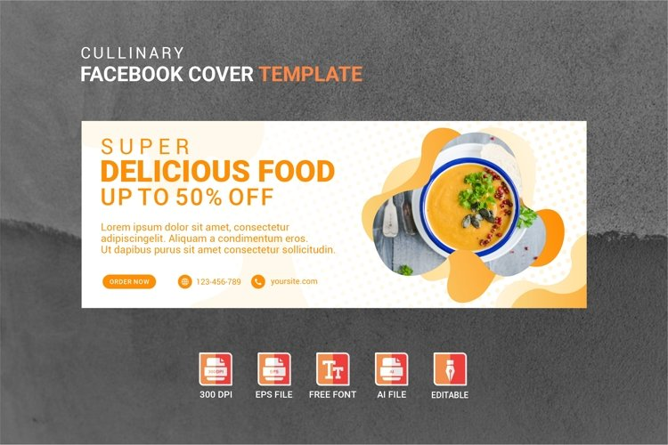 Facebook Cover Vol.44 example image 1