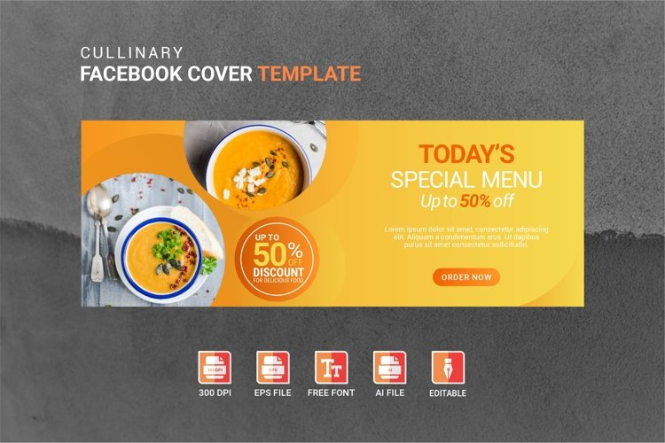 Facebook Cover Vol.46 example image 1