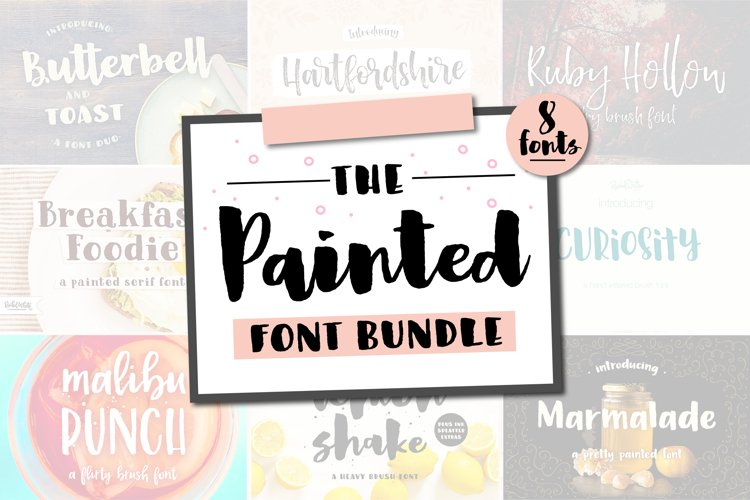 Painted Fonts Bundle example image 1