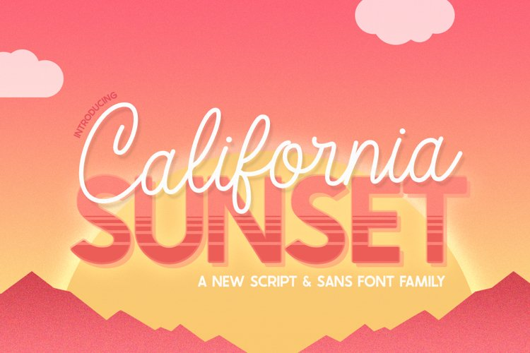 California Sunset Font Family example image 1