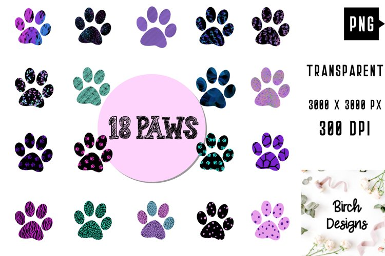 Dog Paws Cat Paws Cute Clipart Sublimation, Paws Designs PNG
