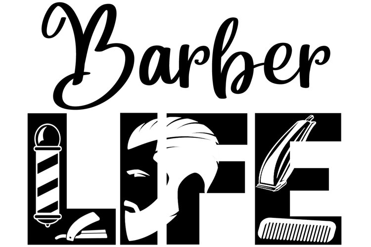 Barbers Life SVG Cutting File for the Cricut example image 1