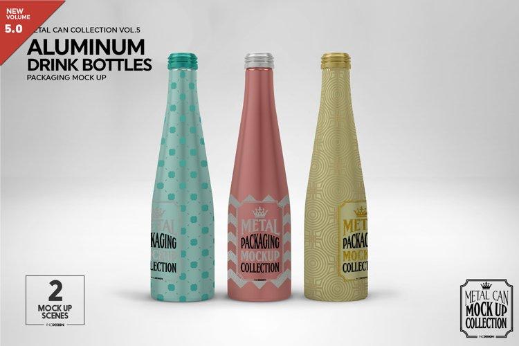 Aluminum Drink Bottles Packaging Mockup