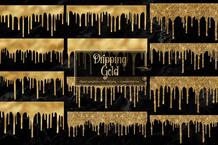 Dripping Gold Clipart
