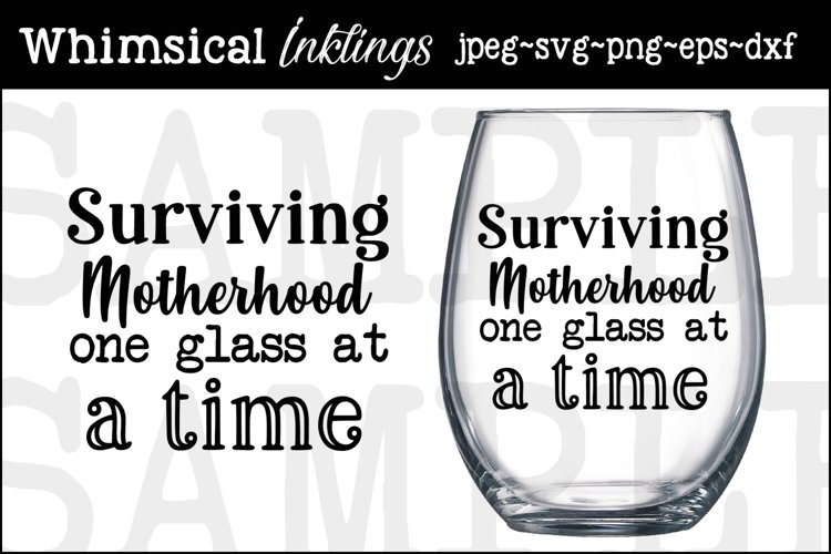 One Glass-Wine-SVG example image 1