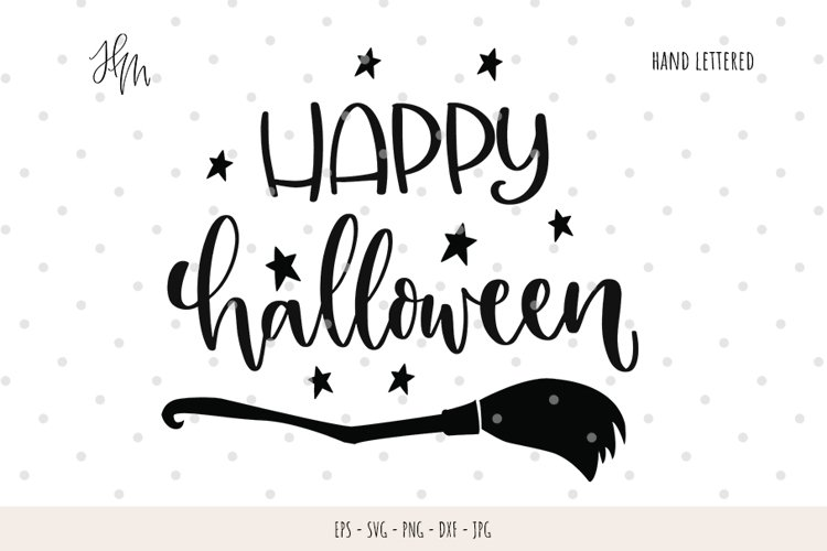 Happy halloween cut file SVG DXF EPS PNG JPG example image 1