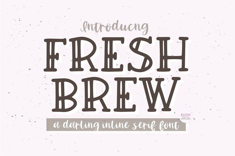 FRESH BREW Farmhouse Serif Font