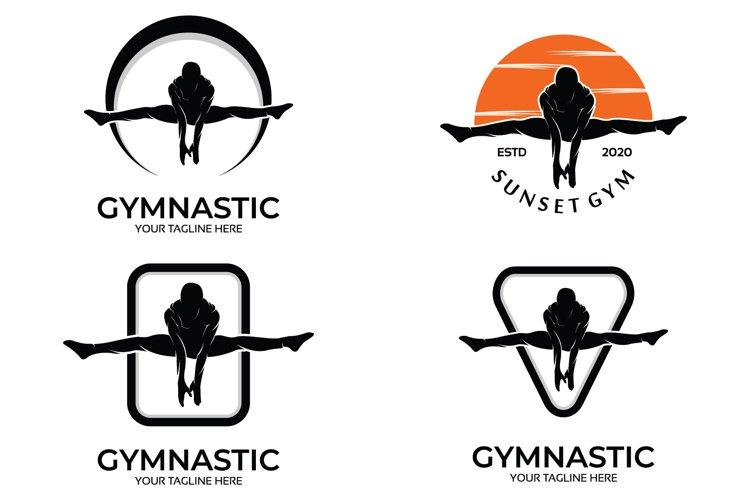 Set of gymnastics logo example image 1