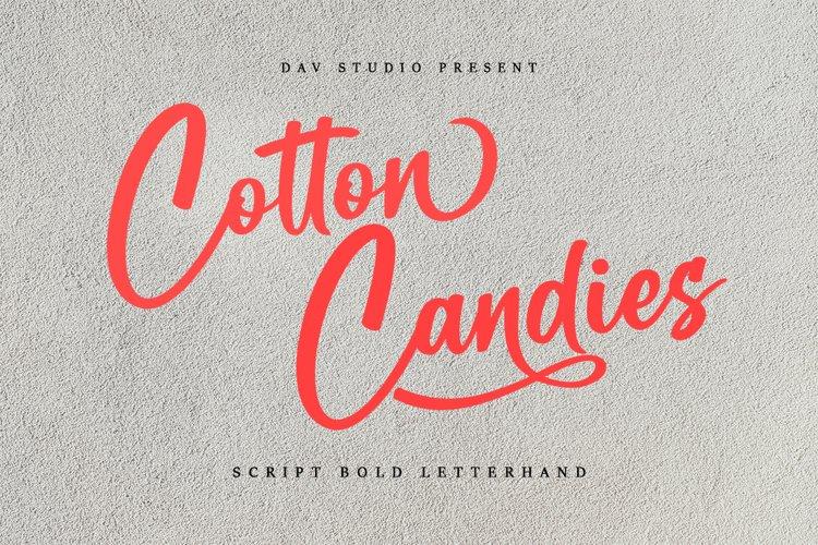 Cotton Candies - Bold Script Font example image 1