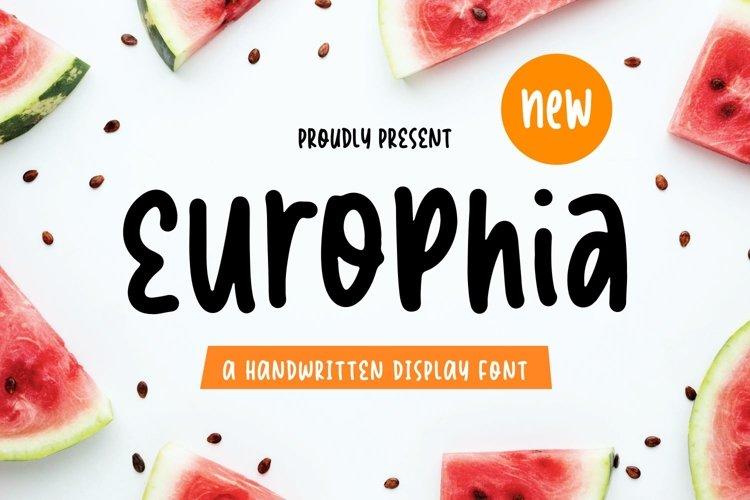 Europhia - Handwritten Display Font example image 1