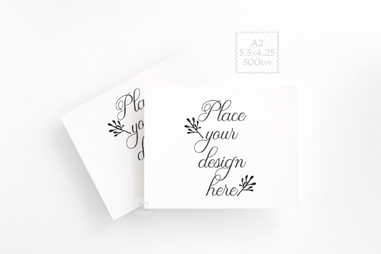 a2 print card mockup photo psd postcard Mock up horizontal