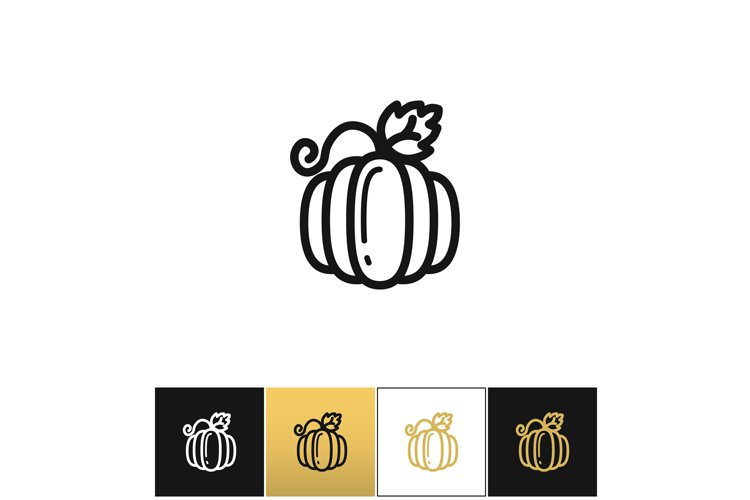 Pumpkin for thanksgiving or gourd vector icon example image 1