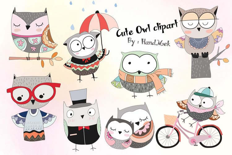 Cute owl Clipart example image 1
