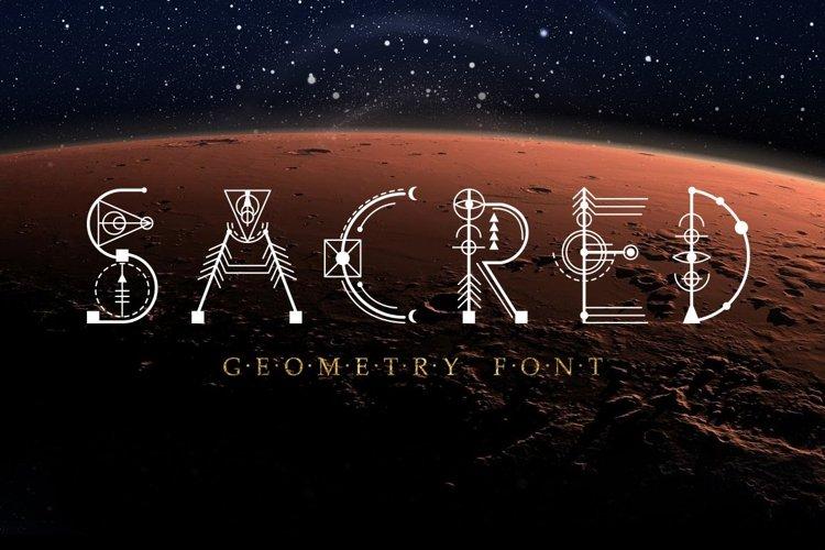 Web Font Sacred Geometry Font example image 1