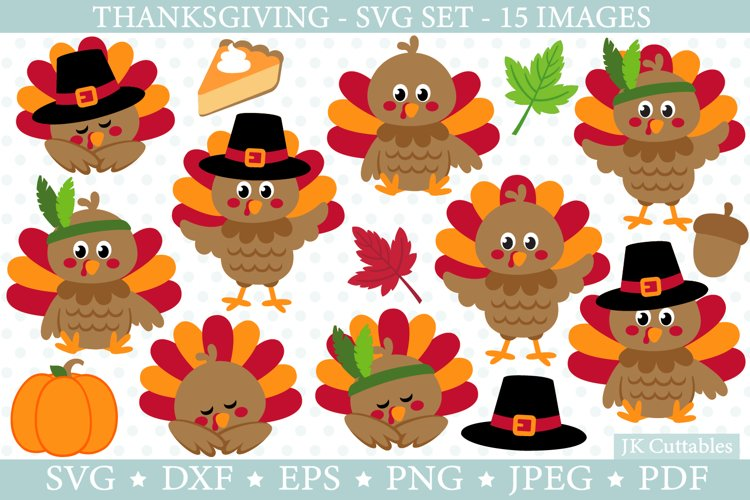 Thanksgiving SVG cut files for crafters | Turkey svg | Fall example image 1