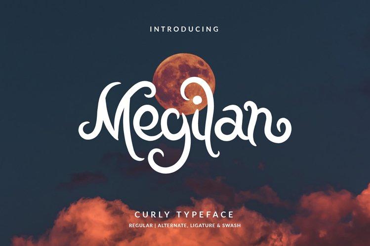 Megilan Curly Typeface