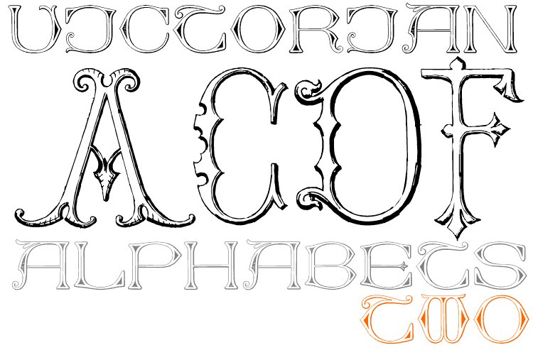 Victorian Alphabets Pack 2A example image 1