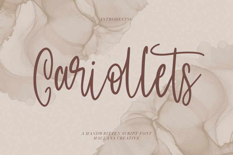 Cariollets Handwritten Script Font example image 1