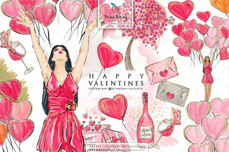 Valentines Day Love Clipart example image 1